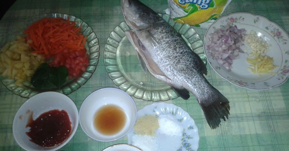 Miss Amirah Hananni : Resepi Ikan Siakap Tiga Rasa